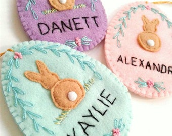 Mini christmas stocking felt stockings gift card stocking personalized easter gift personalised easter ornament personalized easter egg felt egg easter candy negle Images