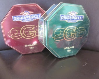 COLLECTOR TIN BOXES  Ghirardelli Chocolate