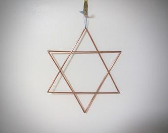 Star of David Wall Art | Jewish Wall Decor | Copper 6 point Star | Magen David decor | Shield of David wall hanging