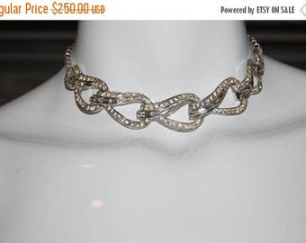 ON SALE Vintage 1950s Boucher Rhinestone Necklace