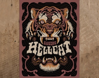 Electric Hellcat - Limited Edition Screen Print