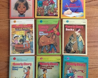 Vintage 1980s Childrens Chapter Book / Beverly Cleary Paperback CHOOSE Your Book or All / Ramona Henry Huggins Ellen Tebbits Otis Socks