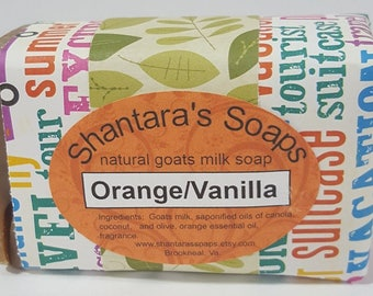 Orange Vanilla, Natural Goats Milk Soap, Handmade Soap, Vanilla Soap, Citrus Soap, Soap Gift, Uncolored Soap, Soap Made In Virginia, Gift