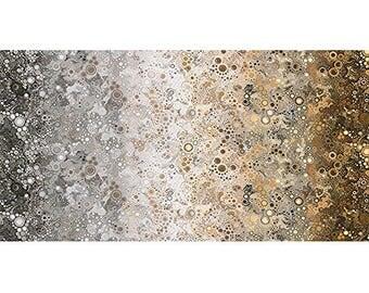 Effervescence Digital Grey Brown Bubbles Robert Kaufman Cotton Fabric Yard