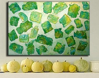 ORIGINAL Contemporary Textured Abstract Modern Painting by Henry Parsinia Large 36x24