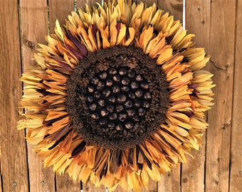 Sunflower Corn Husk Wreath