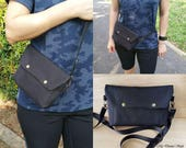 Large Convertible Pouch / Crossbody Pouch / Waist Pouch / Water Resistant Pouch