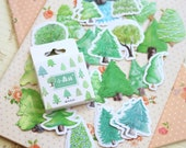 Small Forest cartoon shapes deco stickers