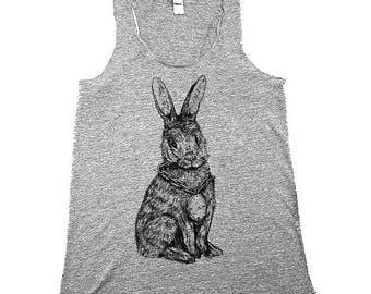 Womens Rabbit Tank - Easter - Mothers Day - bunny rabbit  - Tank tops - XS, Small, Medium, Large, XL