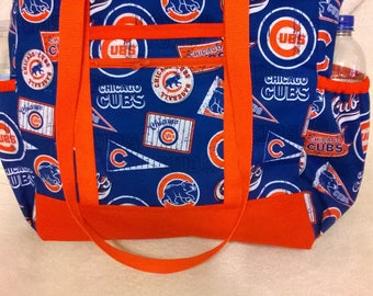 Chicago Cubs Tote, Diaper Bag, Carry On, Book Bag