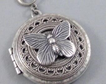 Flutter By Night, Butterfly,Necklace,Locket,Butterfly,Silver Locket, Butterfly Locket,Wings,Silver,Butterfly Necklace,Butterfly Jewelry,