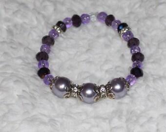 Shades of purple Stretch Bracelet