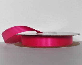 Cyclamen Hot Pink Double Faced 5/8 inch Satin Ribbon 5 yard length Offray Made in USA