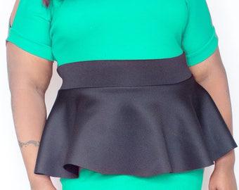 Neoprene Plus Size Peplum Belt Custom Colorts Stretch Waistband