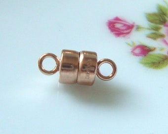 1 pc, 4.0mm, 14K Rose Gold Filled Magnetic Clasp, made in USA