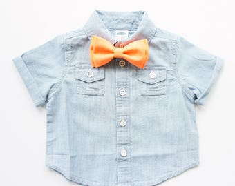 Neon Orange Bow Tie