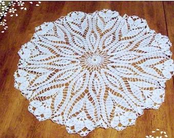 Lace Tablecloth Crocus Flower Doily Flower Tablecloth Wedding Tablecloth Crochet Lace Tablecloth