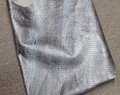 6-786.  Silver Embossed Baby Hornback Gator Leather Cowhide