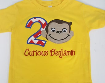 Curious George Birthday Shirt- Customized Birthday T-Shirt