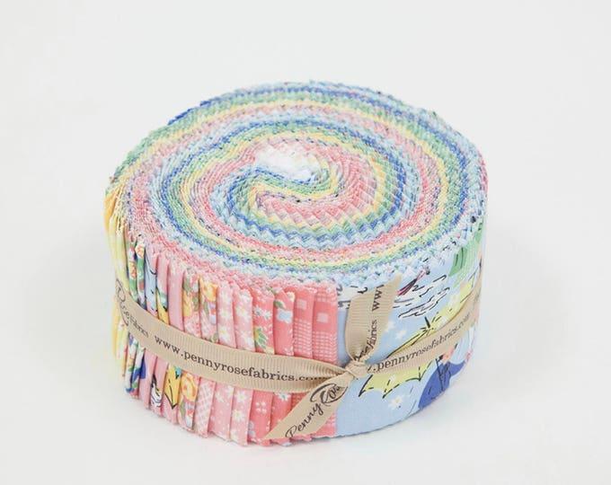 "PRE ORDER - Rolie Polie 40 2.5"" Strips - Mae Flowers Fabric by Lindsay Wilkes for Riley Blake Designs"