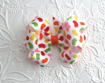 Easter Hair Bow ~ Jelly Bean Hair Clip ~ Toddlers, Girls Boutique Hair Bow