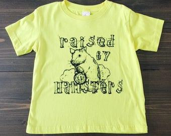 Raised by Hamsters, Kids Screen Printed Tshirt, Spirit Animal, Funny Kids Shirts, Pets, Sale