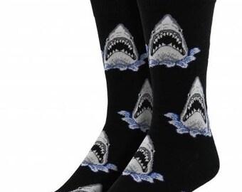 Mens Shark Attack Socks