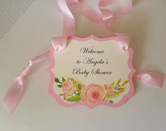Baby Shower Welcome Sign Rustic Vintage Design to Greet Your Guests as they Arrive Baby Girl or Baby Boy Shower Decor