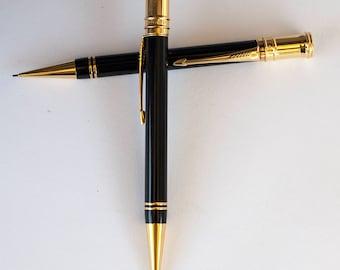 Vintage PARKER Brothers PEN PENCIL Duofold set black gold excellent condition