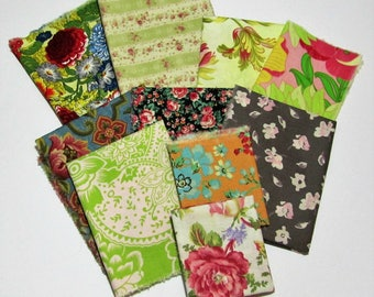Fabric scrap pack- floral inspired- More than 2 yards- stash builder- quilting- scrap pack- designer- remnants- cotton