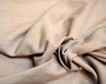 Tan Taupe Textured Curtain Fabric