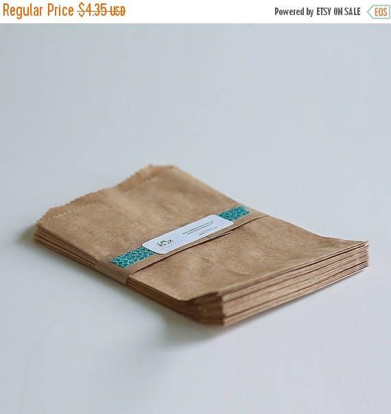 ON SALE Kraft Paper Bags Lot of 25 5x7 1/2