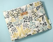 Personalized Clutch, Rifle Paper Co Pouch, Canvas Zipper Pouch, Monogram Pouch, Floral Pouch, Tapestry Personalized Travel Pouch
