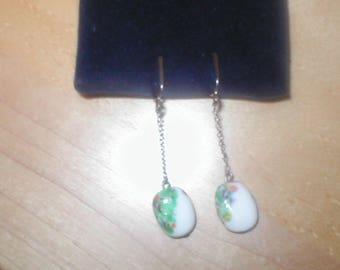 Vintage Art-Glass Dangle Earrings