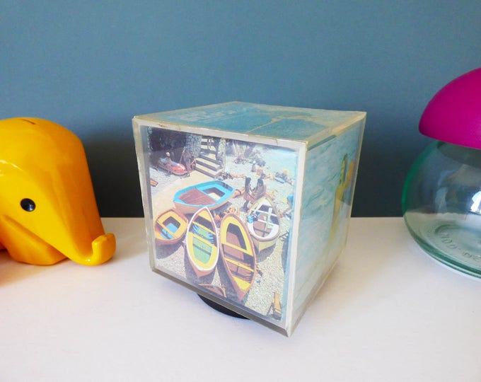 Musical Perspex Photo Frame Cube
