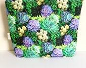 Succulent project bag Plant knitting bag Large project zipper bag