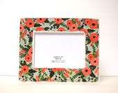 Fresh Poppies  Wood Picture Frame, 5 x 7 Photo Frame, Photo Frames, Wall hanging, Modern, Red, Flowers, Floral, Flora, Spring