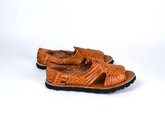 Authentic Mexican Huaraches, Mexican Leather Sandals, Women's Size 9