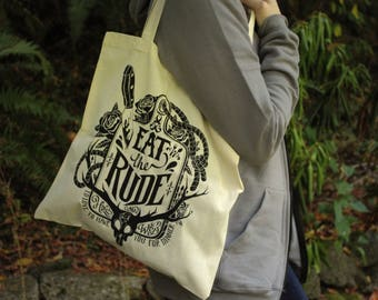 Hannibal Tote Bag | Eat The Rude Tote Bag | Red or White