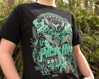 Pacific Rim Shirt   Pacific Rim 2 T-shirt   Hand Screen Printed Kaiju Shirt
