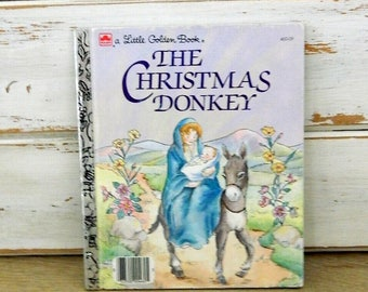 The Christmas Donkey - A Little Golden Book - 1984 - Hardcover Book