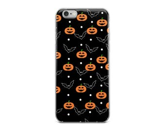 Halloween Phone Case - Halloween iPhone 5/5s/Se, 6/6s, 6/6s Plus Case - Spooky Phone Case - Pumpkins and Bats - Halloween Pattern - Spooky