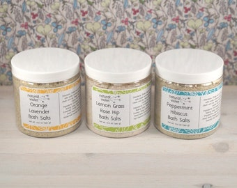 Bath Salt Gift Set - Herbal Bath Tea - Handmade Bath Salts - Detox Bath Salts - Relaxation Gift