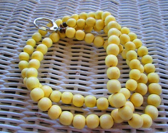 933  Womens 10mm Lemon Yellow wood id badge/lanyard-Mens 10mm Lemon Yellow wood id badge-10mm Lemon Yellow id badge