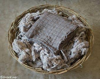Basket Stuffer and Cotton Wrap, Merino Wool Stuffer, Prop Fluff, Gray Wool, Newborn Props, Natural Props, Organic Props, RTS, Basket Filler