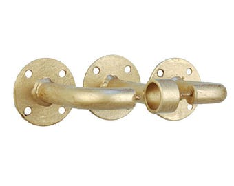 Reserved for Mallory-Black Iron Curtain Hardware-Curtain Rod and C-Rings Set-Classic Style Radius Curtain Rod