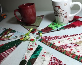 Holiday Mug Rugs-Set of six