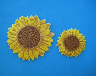 Iron-On embroidered Patch SUNFLOWER (option: 2.75 inch or 1.6 inch)