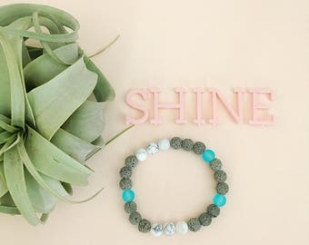 Shine Essential Oil Diffuser Bracelet Lava Bead Essential Oils Bracelet