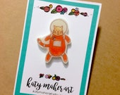 Cat Astronaut Pin - Cat Pin - Cats in Space - Cat Lover Gift - Cat Gift - Stocking Stuffer - Plastic Pin - Plastic Cat Pin - Astronaut Pin